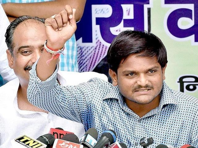 Hardik Patel leads the Patidar agitation in Gujarat for reservation in government jobs and educational institutes.
