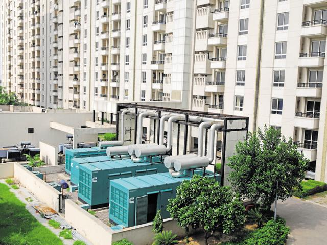 Many residential societies in Gurgaon have to depend on diesel-guzzling generator sets for backup during long power cuts.