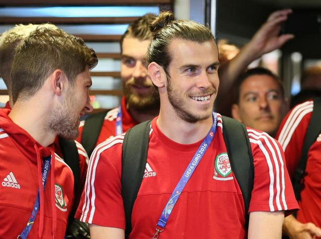 Wales' forward Gareth Bale reacts during the Euro 2016 semi-final football match.