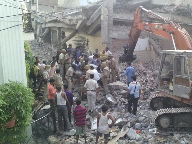 The building is disputed and the demolition was ordered by the high court, authorities said.