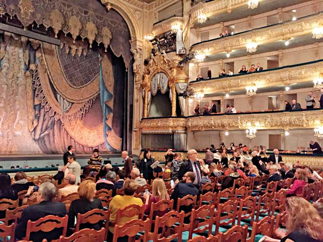 Audience at the Mariinsky Theatre, a historic theatre of opera and ballet