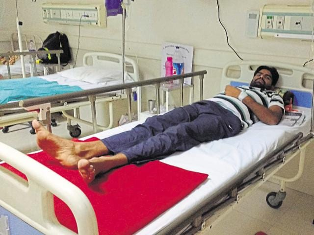 District magistrate NP Singh had told doctors on Friday to force feed Pradhan (above) after his health deteriorated.