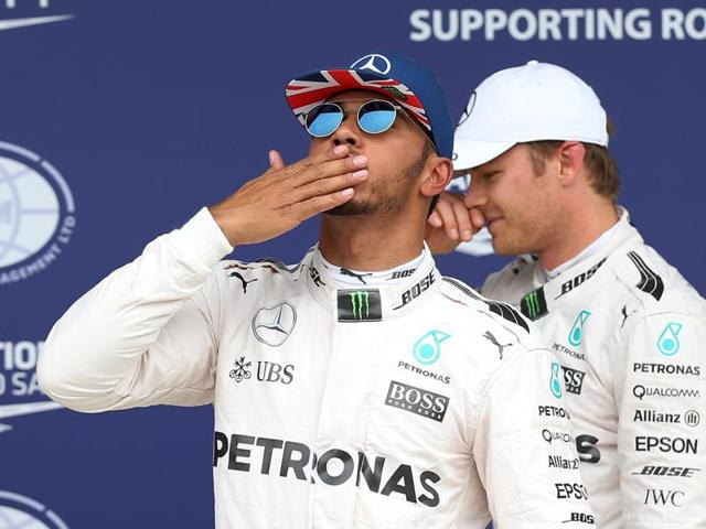 Reigning world champion Hamilton is 11 points behind Rosberg in the drivers' championship.