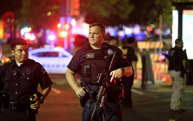 The incident follows recent protests over police killings of black men in Louisiana and Minnesota and the fatal shooting of five police officers in Dallas.