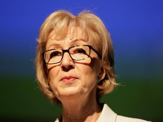 Britain's prime ministerial candidate Andrea Leadsom speaks at a news conference in central London.