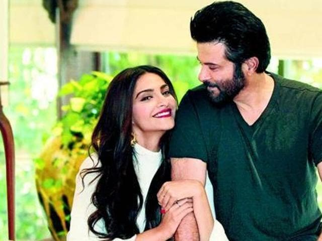 Anil Kapoor and his daughter Sonam strike a pose for Hindustan Times.