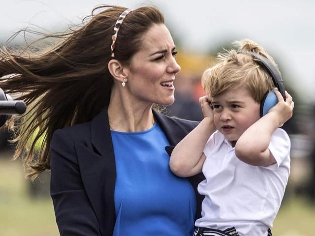 Prince George,Prince George in a jet,Prince William