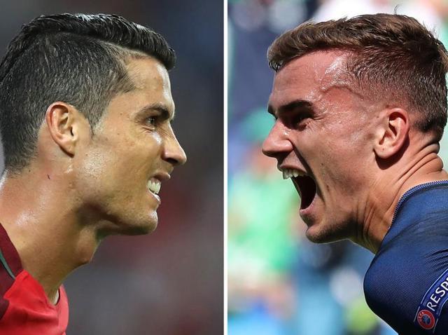 Combination picture of Cristiano Ronaldo (left) and Antoine Griezmann.