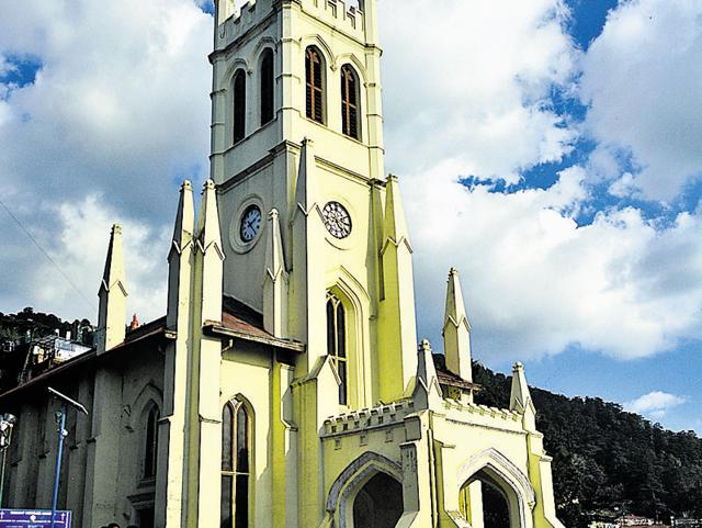Shimla,Christ Church,Mall road