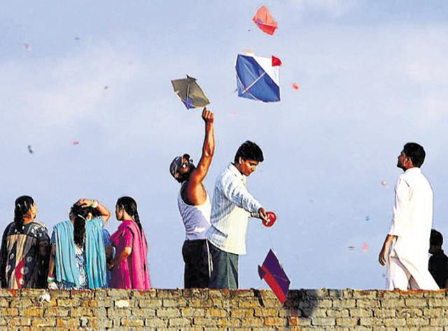 Kite-flying is a popular activity in the monsoons.