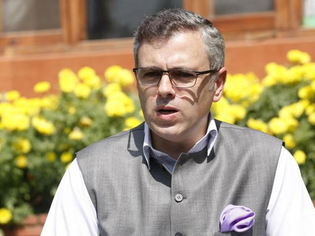 File photo of Omar Abdullah, former chief minister of Jammu and Kashmir.   Abdullah has said that Kashmir's disaffected have got a new icon in Burhan Wani, the Hizb commander who was killed by security forces on July  8, 2016.