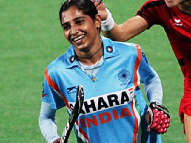 Indian women's hockey team captain Ritu Rani (left) has been dropped from the Rio Olympics-bound side.