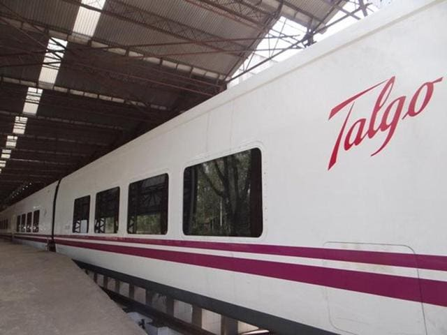 Talgo claims speeds can be ramped up on existing Indian tracks without track and signalling upgrades. The coaches have an unconventional design with natural tilting technology, allowing high speeds even while negotiating turns.