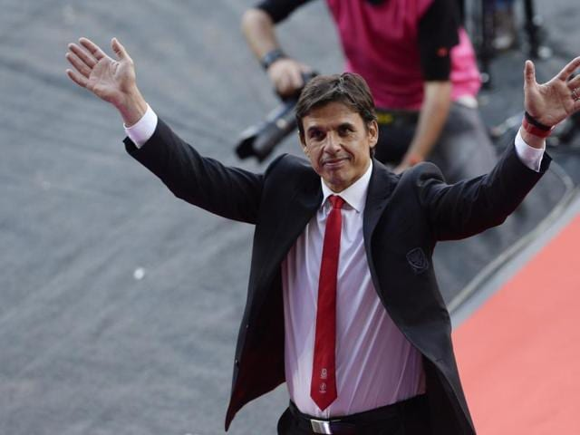 Wales head coach Chris Coleman at Cardiff City Stadium as the team was welcomes back to the country after a dream Euro 2016 run.