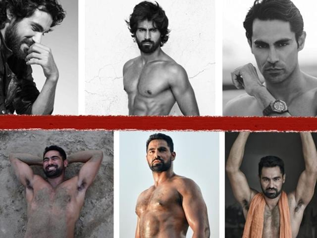 Pictures from Inder Bajwa's past as a model in Mumbai (above) and from his present life