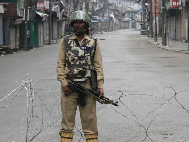 Heavy security cover was deployed through Kashmir a day after the slain militant Burhan Wani was buried and 11 civilians died in the ensuing protests. A blackout on mobile communications also remained.