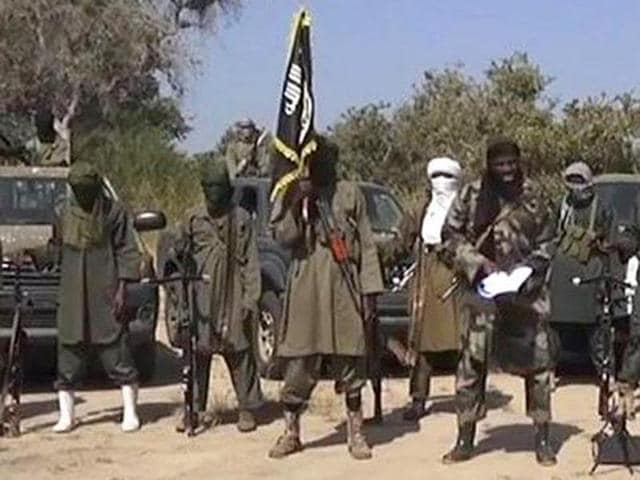 A file photo of Boko Haram fighters.