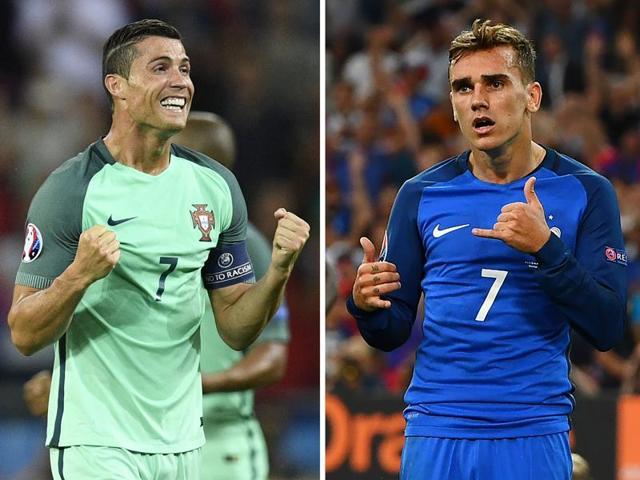 Portugal vs France,Cristiano Ronaldo,Antoine Griezmann