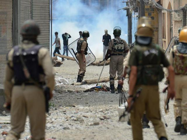 Mobile phone internet service has been blocked, while curfew was clamped across Kashmir as incidents of sporadic clashes continued to be reported from various towns.