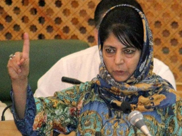 J-K chief minister Mehbooba Mufti held a cabinet meeting on Sunday to review situation in the valley tense over the death of Burhan Wani.