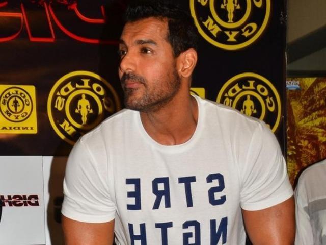 Mumbai: Actor John Abraham during the promotion of film Dishoom at Gold's Gym in Mumbai on July 9, 2016. (Photo: IANS)