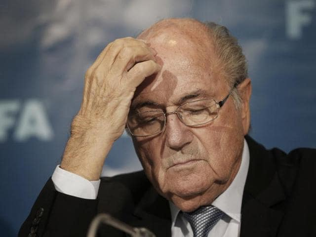 Fifa president Sepp Blatter attends a news conference in Marrakech, Morocco.