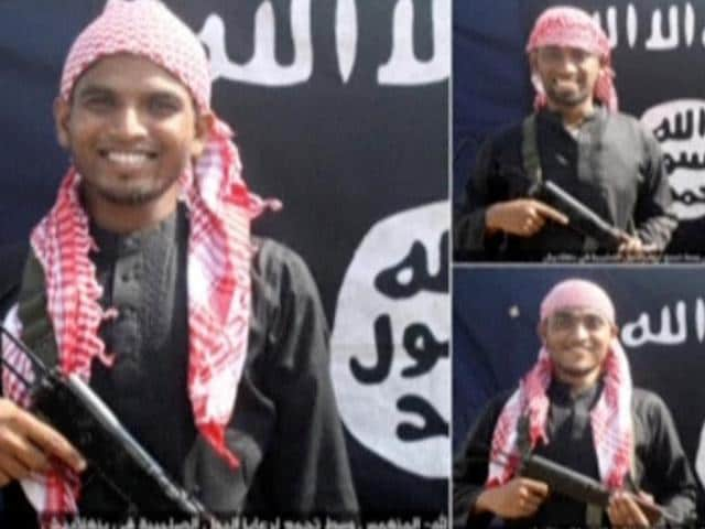 A still image taken from a video of the SITE Intel Group's Twitter page shows undated photos of three men alleged to be the gunmen who carried out a deadly attack at Holey Artisan Bakery cafe in Dhaka.