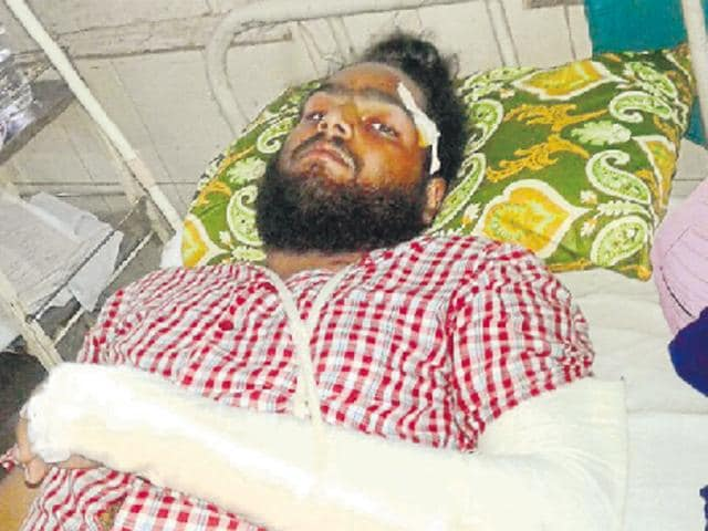 Six men injured,shamlat land,Nabha village