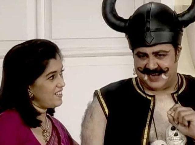 Rupali Ganguly and Ratna Pathak Shah in a still from Sarabhai vs Sarabhai.