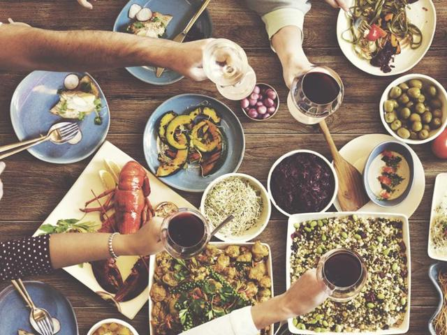 The Mediterranean diet is based on a moderate consumption of fish, dairy products, eggs, red wine, and a small amount of meat.