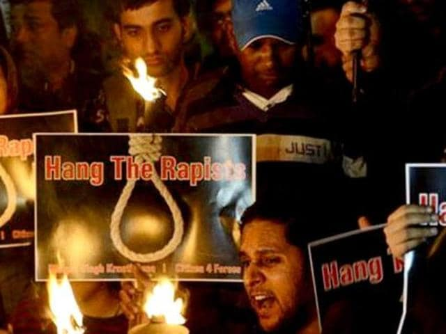 A protest in Delhi against the December 16 gangrape four years ago.