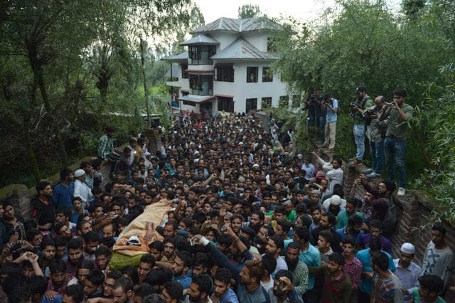 With tens of thousands of people attending Burhan Wani's funeral brings forth the dark reality that people in the Valley are losing faith in the democratic ways of achieving a political goal.