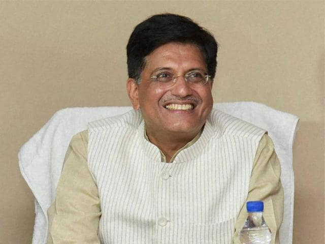 File photo of Piyush Goyal taking charge as Minister of State (Independent Charge) for Mines.