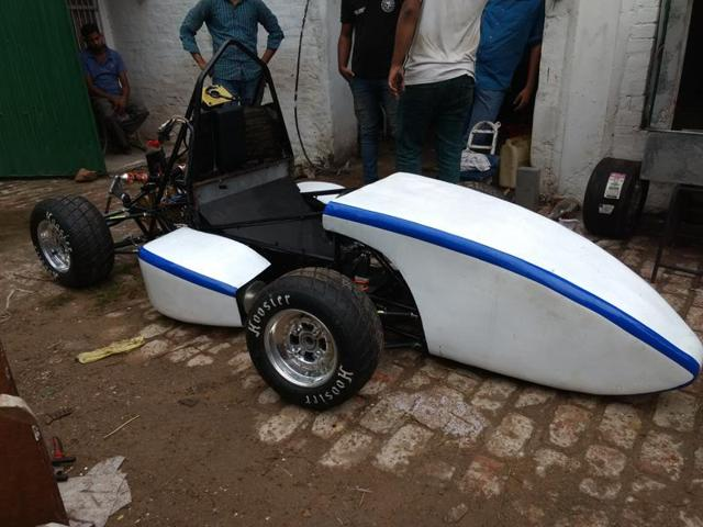 A formula racing car made by a team of 25 students of Zakir Hussain College of Engineering and Technology (AMU) will be in action at a formula racing competition for students at the Silverstone Racing Circuit in the UK from July 14 to 17.