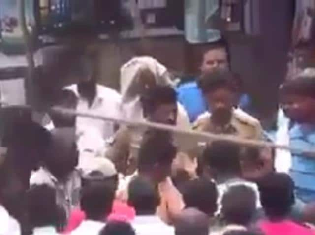 Rail Roko,Dalits beaten by policemen,Tiruvannamalai