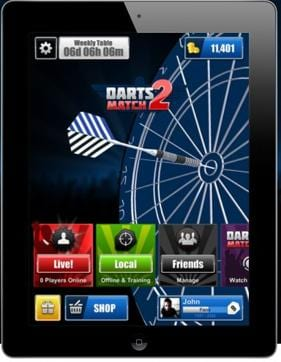 Hoping to eclipse the 1.1 million plus downloads generated by the original game, Darts Match 2 offers users an authentic swipe motion to aim and throw darts and contains a host of new features.
