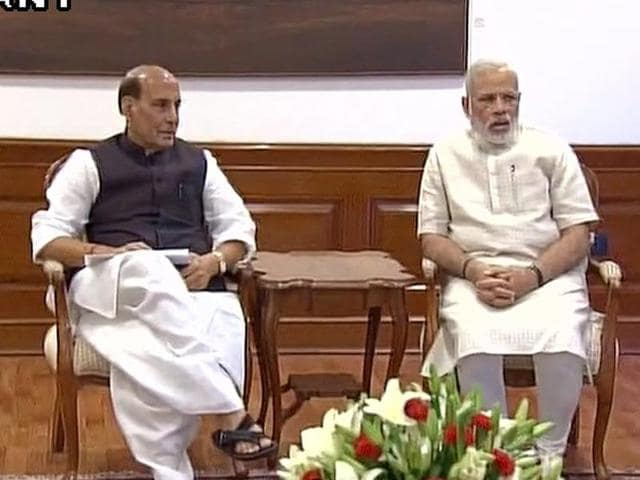 PM Narendra Modi holds a meeting on law & order situation in Jammu and Kashmir