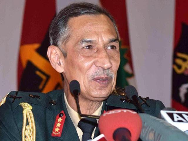 Northern army commander Lieutenant General DS Hooda