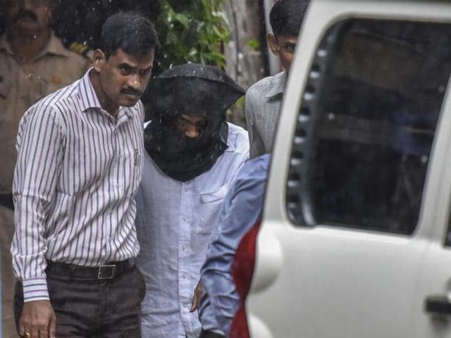 Kumar Pillai after extradition from Singapore on June 28, 2016. HT FILE