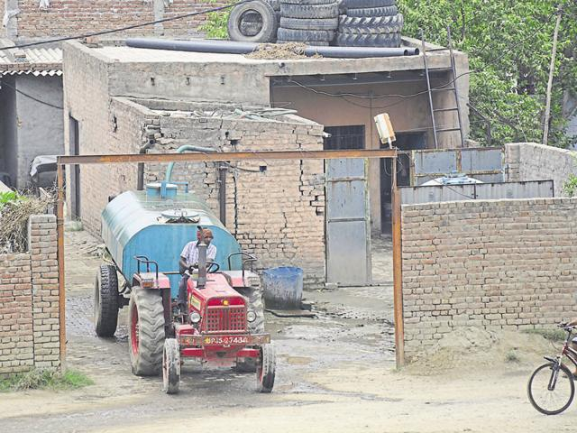 Groundwater has fallen to dangerous levels in Ghaziabad, but extraction continues.
