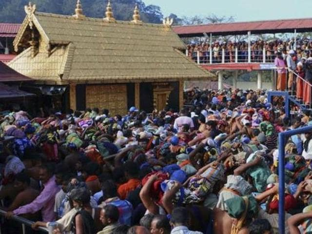 The deity at the Sabarimala temple in Kerala is considered a 'nitya brahmachari' (eternal celibate), and hence the entry women of procreative age is banned.