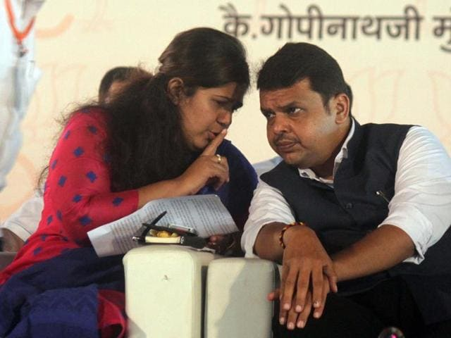 The spat was played out before the public on Twitter and spilled out onto the streets with Munde supporters from the BJP in Pathardi taluka in Ahmednagar burning an effigy of Fadnavis even as those in her home town, Parli protested against him