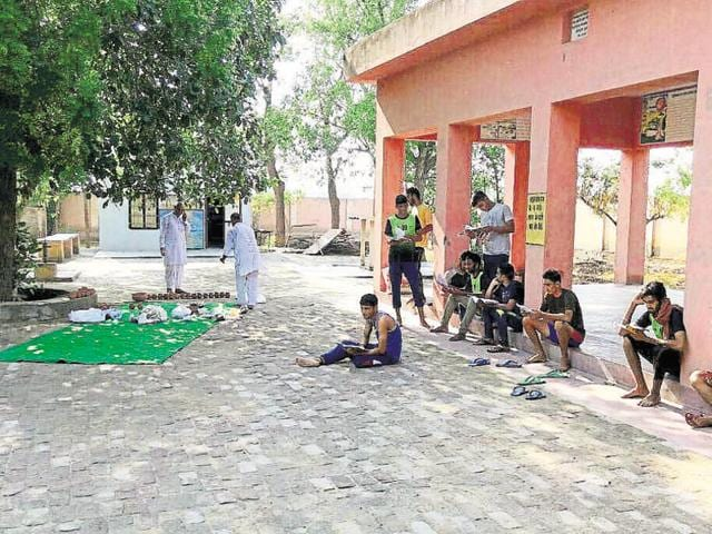 Twenty-seven men from across the state are living in a crematorium in Sriganganagar district to train for launching their career in the army.