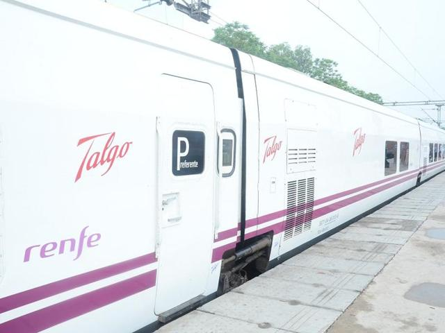The high-speed Spanish Talgo train clocked a maximum speed of 180 km per hour during its second phase trial run between Mathura and Palwal on Wednesday.