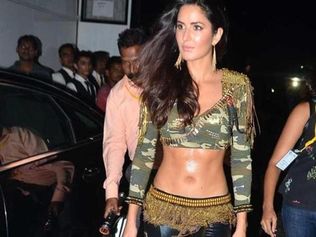 Katrina Kaif performed at the opening ceremony of the IPL. (HT Photo)