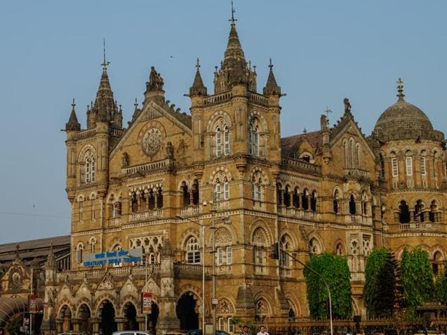 A view of Chhatrapati Shivaji Terminus before the lights were turned off to mark Earth Hour on March 19.