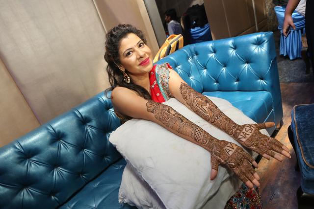 TV actor Sambhavna Seth celebrated her mehendi ceremony in Delhi today.