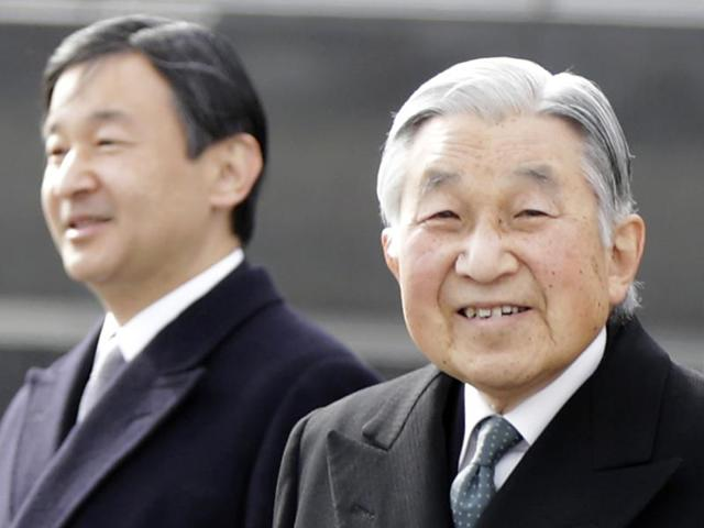 File photo of Japan's Emperor Akihito and Empress Michiko near the Imperial Villa in Hayama, near Tokyo. Japan's public television said on Wednesday Akihito has expressed his intention to retire while still alive. NHK said the Emperor conveyed his hopes to relinquish his title to Crown Prince Naruhito within the next few years.