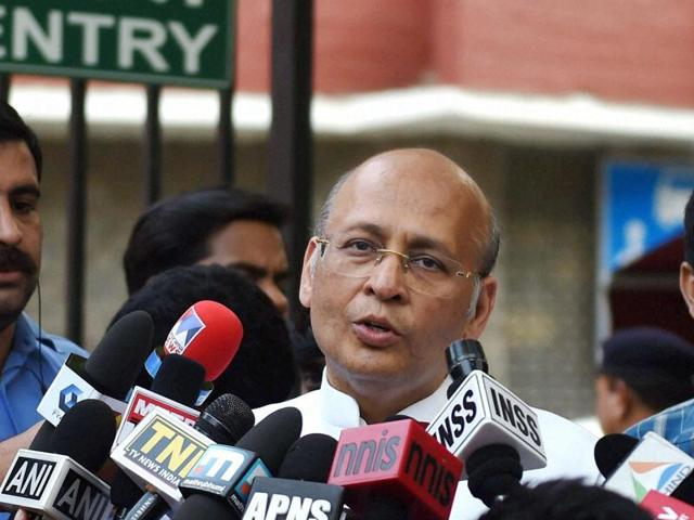 Abhishek Manu Singhvi said that there is no change in Congress' stand on the GST Bill.