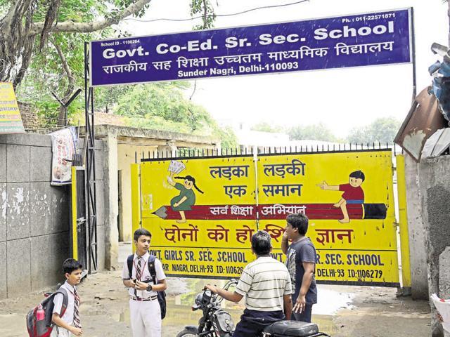 The government senior secondary school in Sunder Nagri in New Delhi that boys and girls on alternate days.